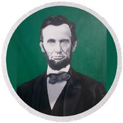 Abraham Lincoln  Round Beach Towel