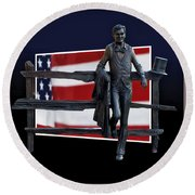 Abraham Lincoln Round Beach Towel by Thomas Woolworth