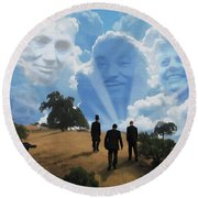 Abraham Martin And John Round Beach Towel