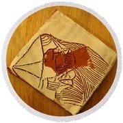 Abram - Tile Round Beach Towel