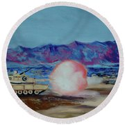 Abrams Firing Round Beach Towel