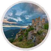 The Last Stronghold, Italy  Round Beach Towel