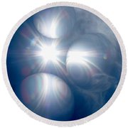 Absorbing Your Light Round Beach Towel