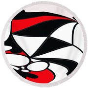 Abstrac7-30-09-b Round Beach Towel