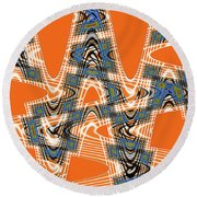 Abstract # 2060ew4bc Round Beach Towel