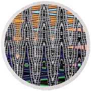 Abstract # 2682 Round Beach Towel
