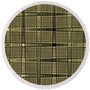 Abstract # 6669e Round Beach Towel