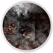 Abstract 01-07-10-a Round Beach Towel