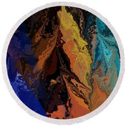 Abstract 010811 Round Beach Towel