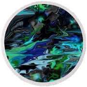 Abstract 011211 Round Beach Towel