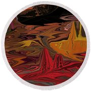 Abstract 011311 Round Beach Towel
