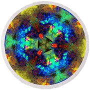 Abstract 012211 Round Beach Towel