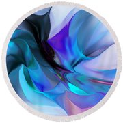 Abstract 012513 Round Beach Towel