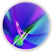 Abstract 012611 Round Beach Towel