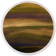 Abstract 013111 Round Beach Towel