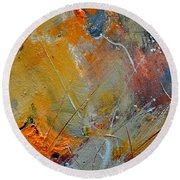 Abstract 015011 Round Beach Towel