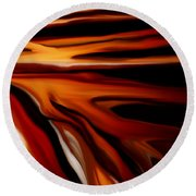 Abstract 02-12-10 Round Beach Towel