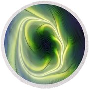 Abstract 021311 Round Beach Towel