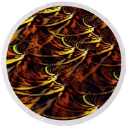 Abstract 022611a Round Beach Towel
