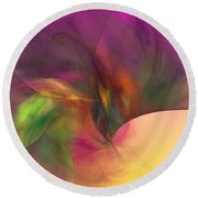 Abstract 030111 Round Beach Towel