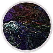 Abstract 030211 Round Beach Towel