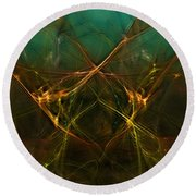 Abstract 031211 Round Beach Towel