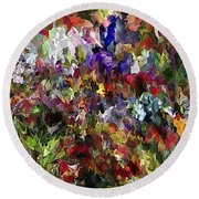 Abstract 032215 Round Beach Towel