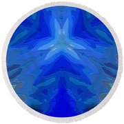 Abstract 032811-2 Round Beach Towel