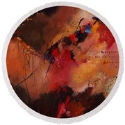 Abstract 0408 Round Beach Towel