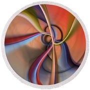 Abstract 0414111 Round Beach Towel