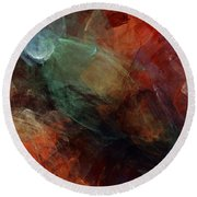 Abstract 042211 Round Beach Towel