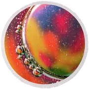 Abstract 0423d Round Beach Towel