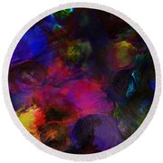 Abstract 042711a Round Beach Towel
