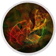 Abstract 051011 Round Beach Towel