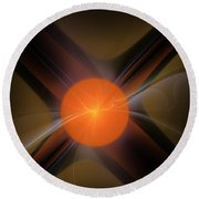 Abstract 051511 Round Beach Towel