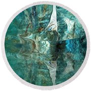 Abstract 051515 Round Beach Towel