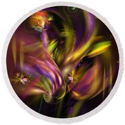 Abstract 05171 Round Beach Towel