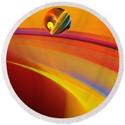 Abstract 052311 Round Beach Towel