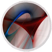 Abstract 052510 Round Beach Towel