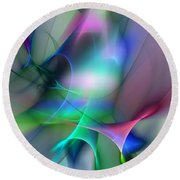 Abstract 053010 Round Beach Towel