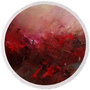 Abstract 056 Round Beach Towel