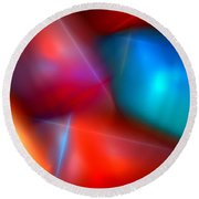 Abstract 060110 Round Beach Towel