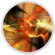 Abstract 060110a Round Beach Towel