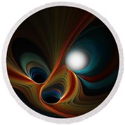 Abstract 060310c Round Beach Towel