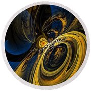 Abstract 060910 Round Beach Towel