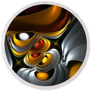 Abstract 061010 Round Beach Towel