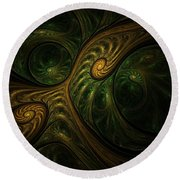 Abstract 061310a Round Beach Towel