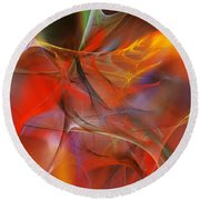 Abstract 062910a Round Beach Towel