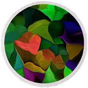 Abstract 063016 Round Beach Towel