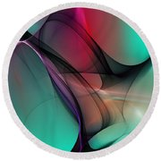 Abstract 070310 Round Beach Towel